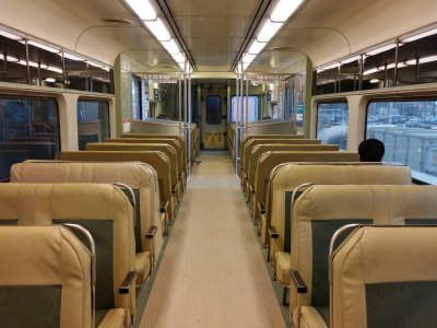 Interior of our train