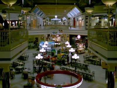 Food court area at Valley View Mall in Roanoke, Virginia, June 13, 2006