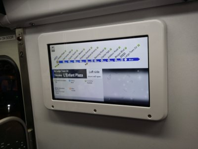 The new electronic displays.  It was showing another strip map on this occasion.