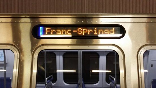 Blue Line to Franconia-Springfield!