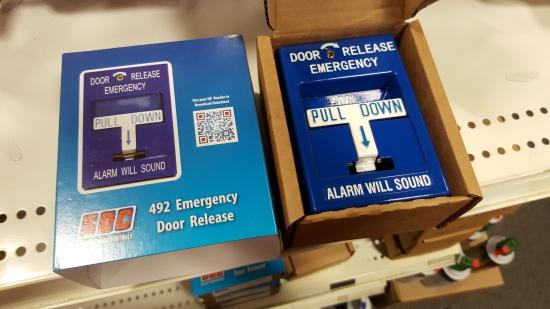 SDC door release pull stations.