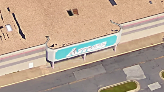 Google Maps image showing the open panel on the roof. I have no idea what such a panel would be used for. Any idea?
