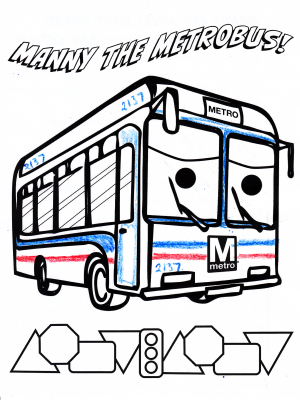 "My ""Manny the Metrobus"" page. I did something like a typical Orion V scheme, and numbered it 2137."