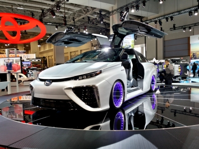 Toyota Mirai, complete with gull-wing doors
