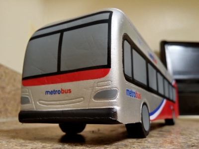 Toy 7001, photographed in my kitchen at a similar angle to how I would photograph a real bus.