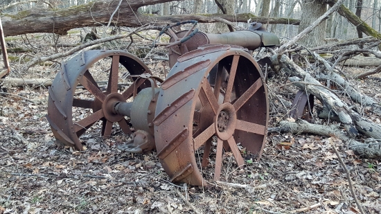 A Fordson F tractor, abandoned down the hill from the Bauers' house.