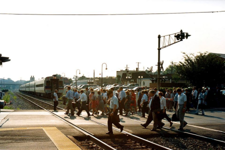 John Floyd's photo of Gaithersburg MARC in 1994