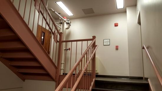 Zane Showker Hall's stairwell