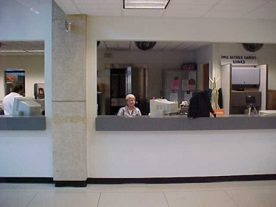 JMU Card Services, with Judy at the window