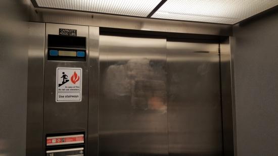 The freshman side elevator.