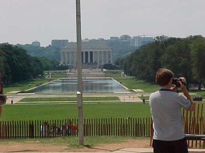 View towards the Lincoln Memorial