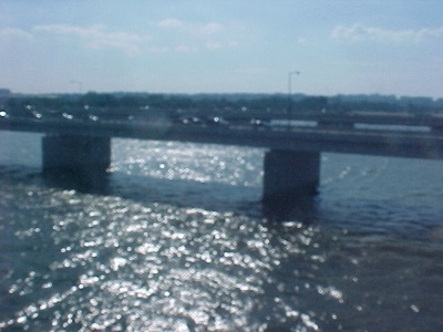 The view from the Yellow Line bridge