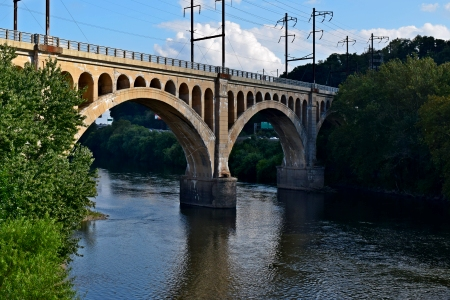 The Manayunk Bridge, photographed from the nearby Green Lane Bridge