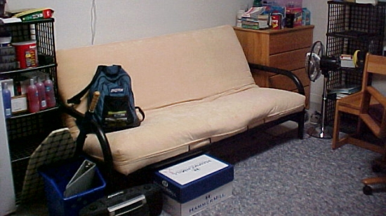 Same couch in Potomac Hall, photographed 2002