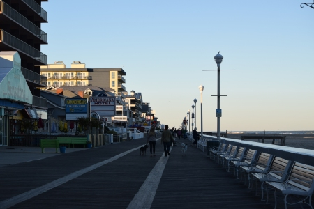 The boardwalk in late afternoon/early evening.