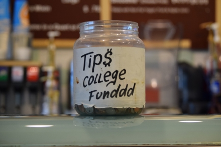 Spotted this tip jar in an Auntie Anne's on the boardwalk.