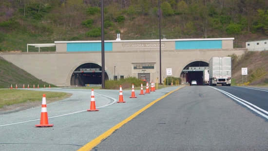 Western portal of the Tuscarora Mountain Tunnel.