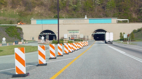 Western portal of the Kittatinny Mountain Tunnel.