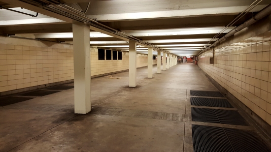 A long, wide corridor to PATCO