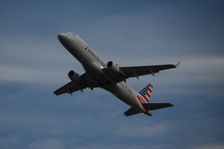 N128HQ, an Embraer 175LR, operated by Republic Airlines for American Eagle. Formerly painted for US Airways Express.