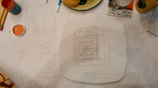 One fire alarm, sketched on pottery