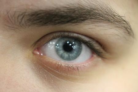 Close up of Elyse's eye.