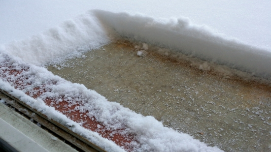 I've never had this much snow this close to the door!