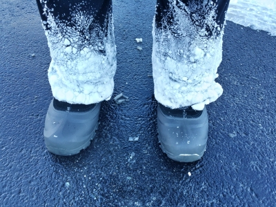 Frosty pants!
