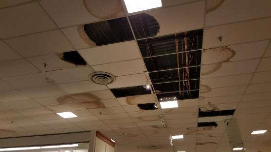 Ceiling damage at Penney's