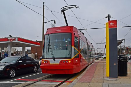 Full view of the streetcar at Oklahoma Avenue.
