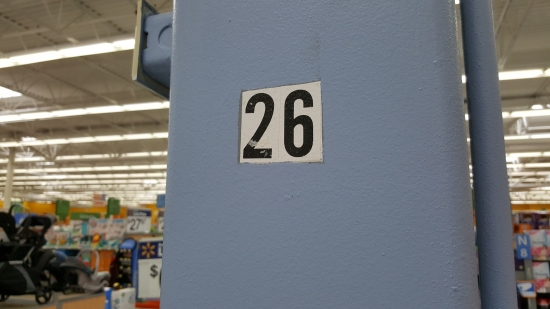 "That ""26"" on the column..."