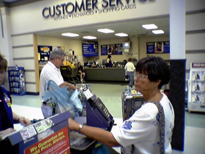 Service desk at a Walmart Supercenter in Roanoke, Virginia, photographed mid-2004