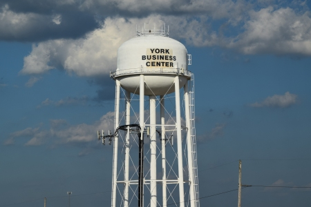 """YORK BUSINESS CENTER"" water tower"