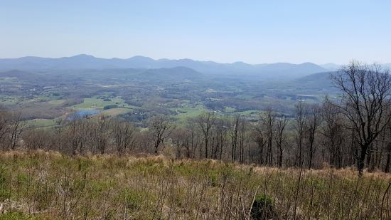 View from Rockfish Valley Parking Overlook