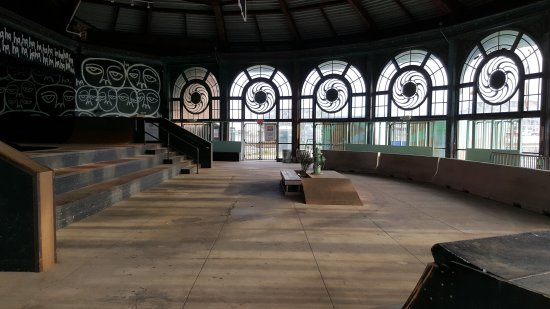 The old carousel house is now in use as a skatepark!