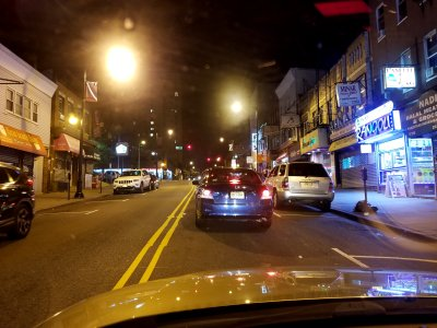 Driving through the India Square neighborhood in Jersey City.