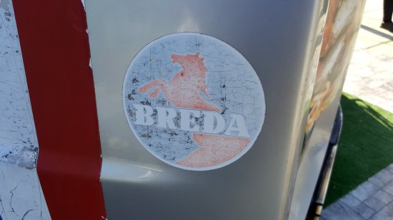 The Breda logo on the exterior is still intact.