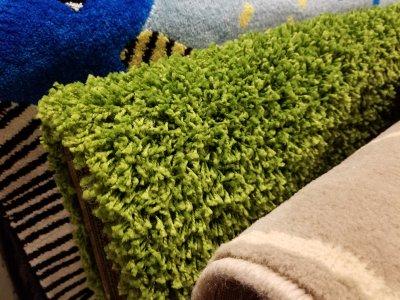 Green shag carpet. Nooooooooooooooooooope.