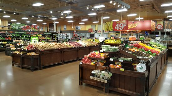 Large produce section.