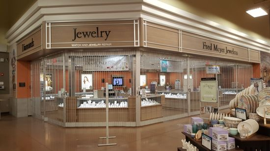 Jewelry department. This section is branded as Fred Meyer, which is another Kroger nameplate.
