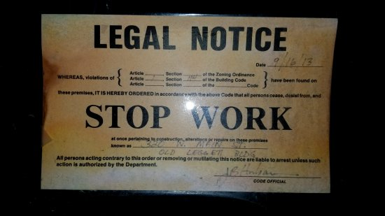 Stop work order.