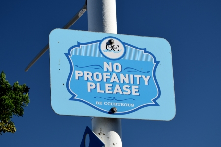 Ocean City's equivalent of the no-swearing sign like Virginia Beach has.