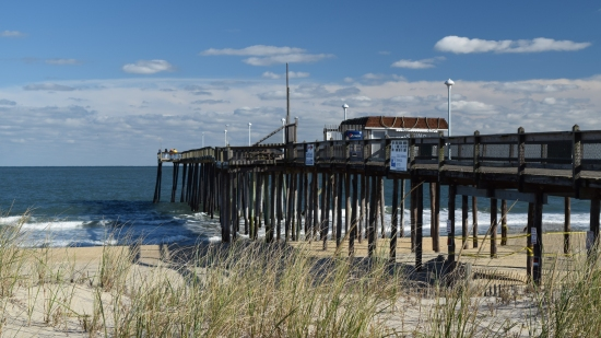 Ocean City fishing pier, viewed from the northwest.