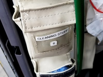 """Cleaning stuff"". Okay, then."