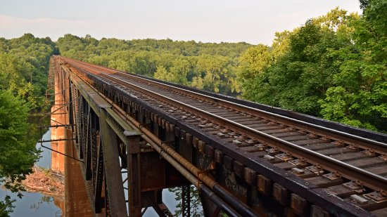 The bridge.  Needless to say, considering the length of the bridge and its height, you never want to foul the tracks here unless you can get confirmation that all traffic is stopped.