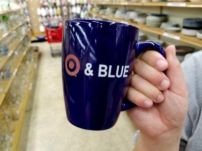 """Target & Blue"" mug."