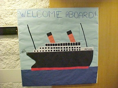 This was the first dorm bulletin board that I ever did, August/September 2001.
