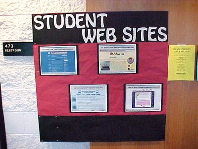 "This was the ""quick"" bulletin board for August/September 2001, showcasing some JMU student-run websites."
