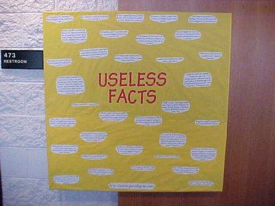 This was another bulletin board full of facts, also from October 2001.
