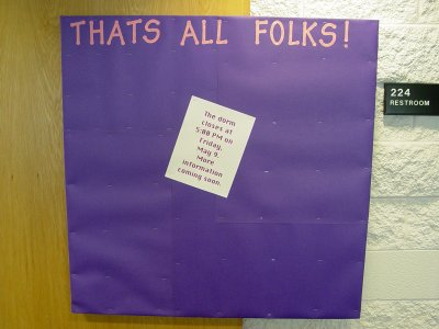 This was the absolute last bulletin board that I did in Potomac Hall, and it was about the end-of-year closing.